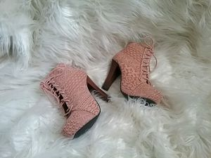 Charlotte Russe Lace Up Soft Pink Chic Booties for Sale in Reno, NV