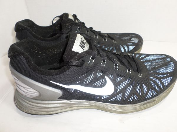 new concept a76fe 8599f Nike Lunarglide 6 Flash H2O Repel 683651-001 black   silver running shoes  mens 10.5