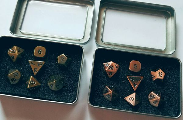 Dungeons and Dragons, DnD, Role Playing 7-Piece Metal D&D