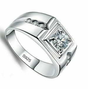 Brand new solid silver wedding rings engagement rings for men 1 carat CZ diamond size 10 and 11. for Sale in Richmond, VA