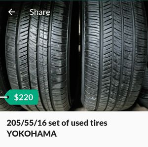 Photo 205/55/16 set of used tires YOKOHAMA