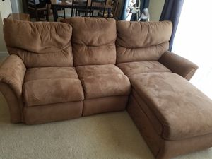 La-Z-Boy Suede 3-seat Recliner Sofa for Sale in Lorton, VA