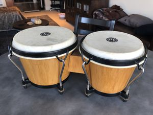 LP Traditional Wood Bongos- Natural for Sale in Seattle, WA