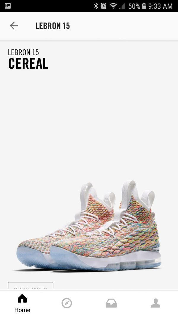 c4e65ad9354 Lebron 15 Fruity Pebbles Cereal Size 10 for Sale in Lancaster
