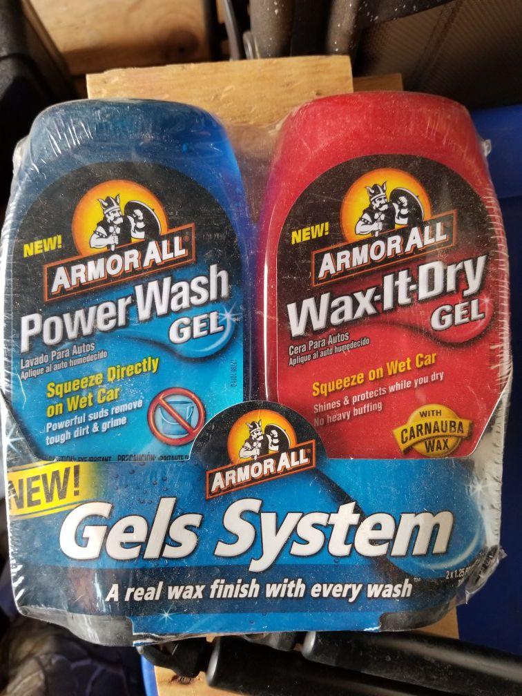 Power wash gel system for detailing csrs.