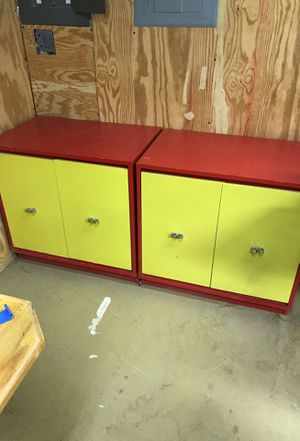 Storage cabinets great for kids for Sale in Fairfax Station, VA