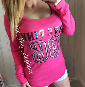 Victoria's Secret Love Pink 86 Rainbow Bling Sequin Tee Shirt for Sale in Chula Vista, CA