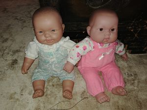 Set of 2 Berenguer plush body baby dolls for Sale in Walkersville, MD