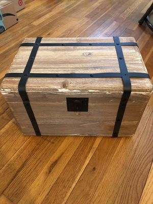Small wood storage chest for Sale in Washington, DC