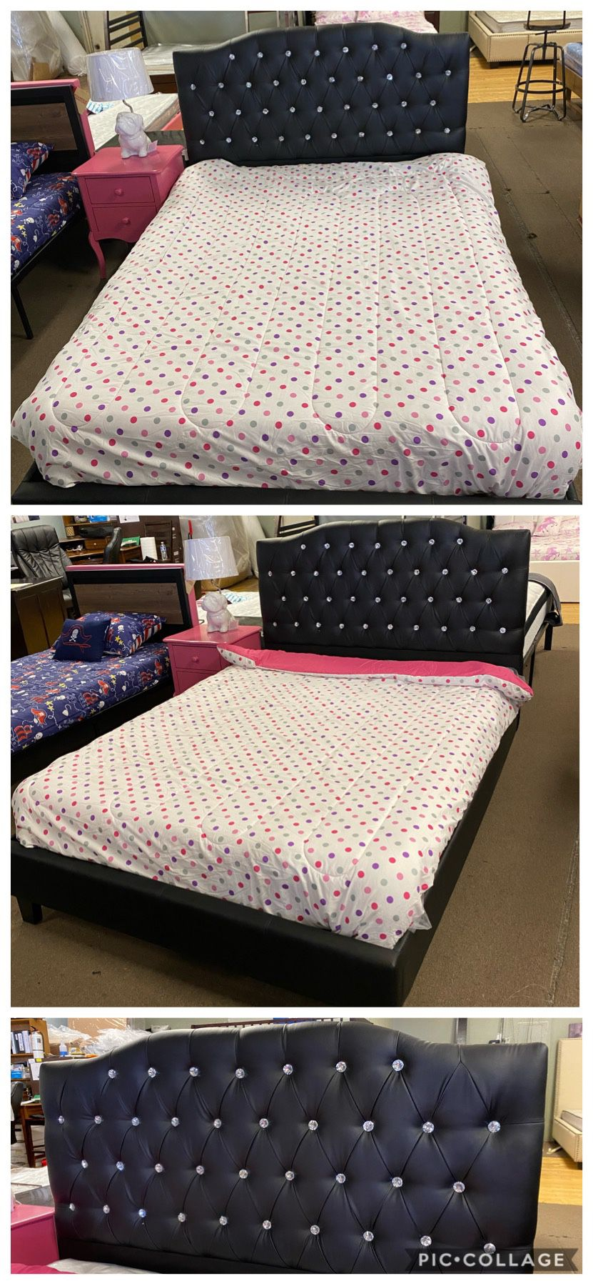 Full bed frame and mattress