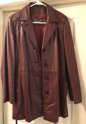 Vintage Etienne Aigner Leather Coat for Sale in Greensboro, NC