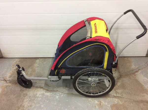 Double Schwinn convertible bike trailer for bicycle or ...