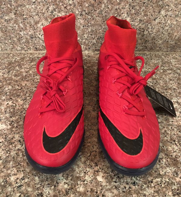 a96019a9603a Nike Hypervenom X Proximo II DF ACC Indoor Soccer Black Red Men s Sz ...