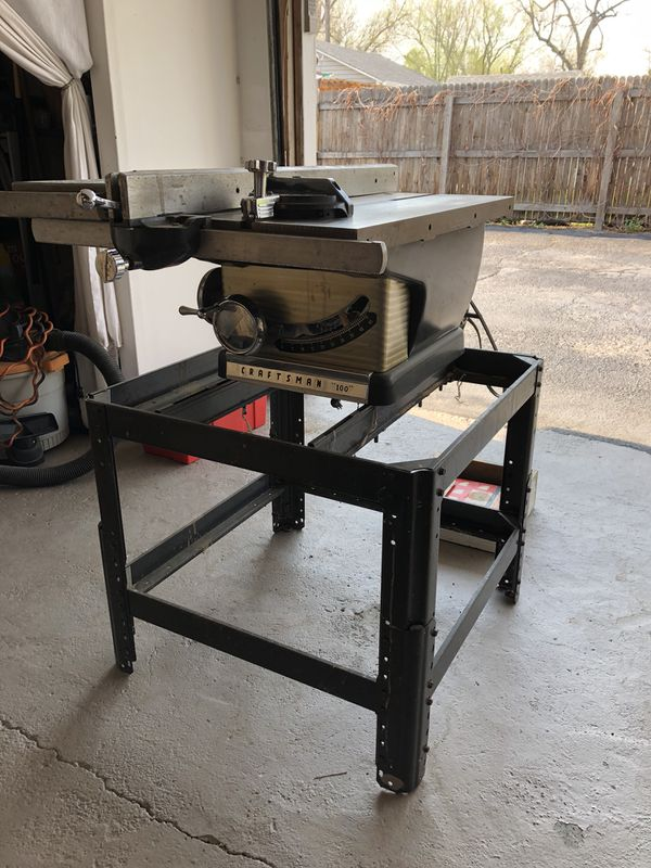 1960s Craftsman Table Saw with Stand for Sale in Wheat Ridge