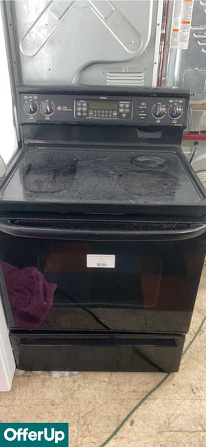 Photo SAME DAY DELIVERY!! GE Electric Stove Oven Glass Top Black #817