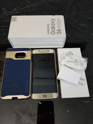 Gold Samsung Galaxy S6 edge (128G) for Sale in Great Falls, VA