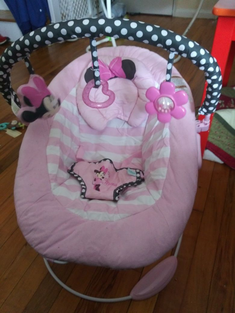 Disney minnie mouse plush bouncer