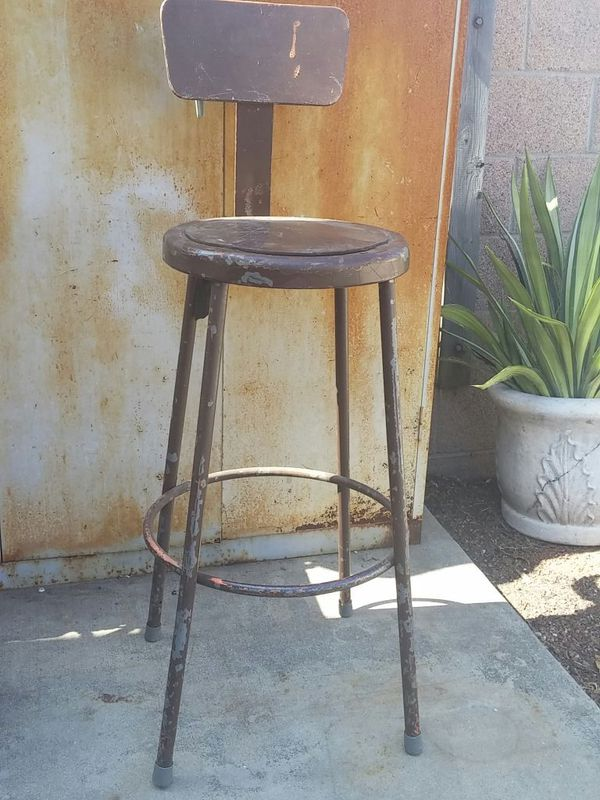 Sensational Old Industrial Metal Drafting Stool Chair For Sale In La Machost Co Dining Chair Design Ideas Machostcouk