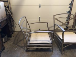 Patio Furniture Rocking Chair Frame and Love Seat Frame for Sale in Herndon, VA