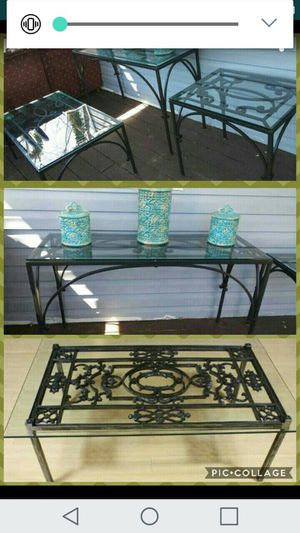 French iron table 3 set for Sale in Silver Spring, MD