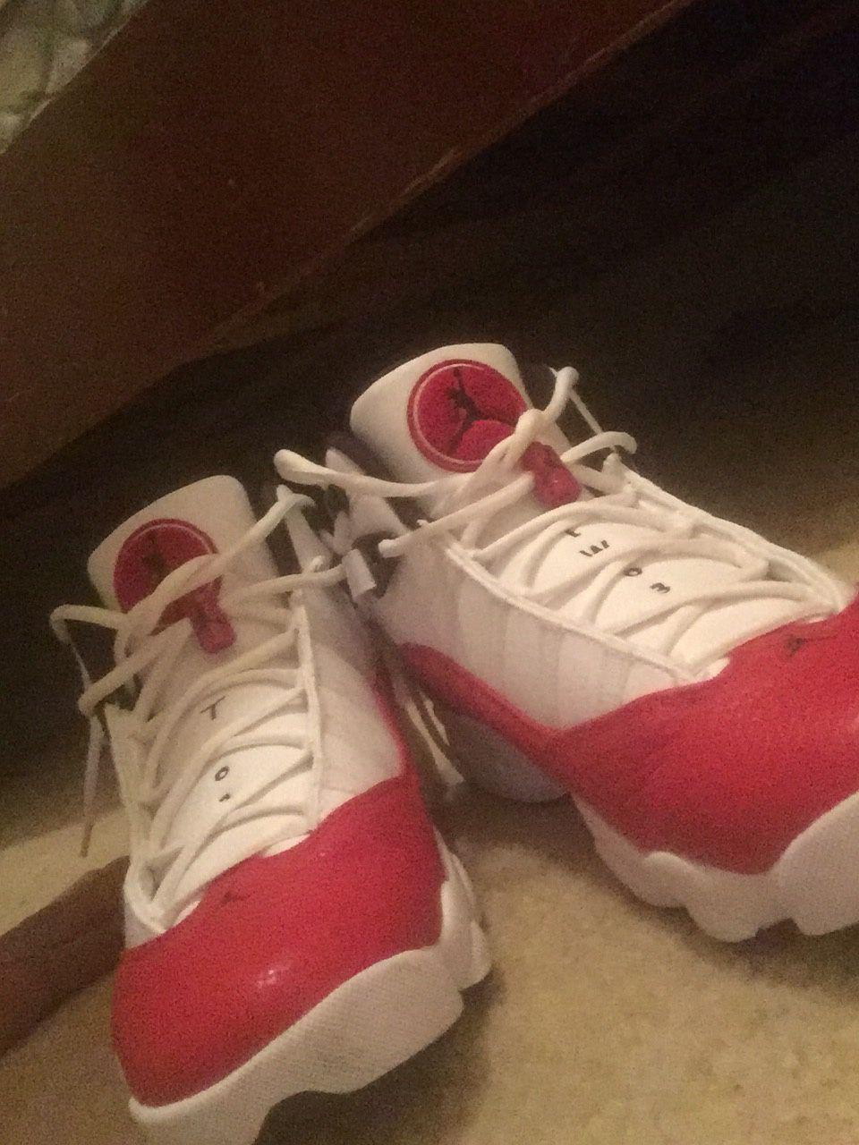 Jordan 6 rings red and white