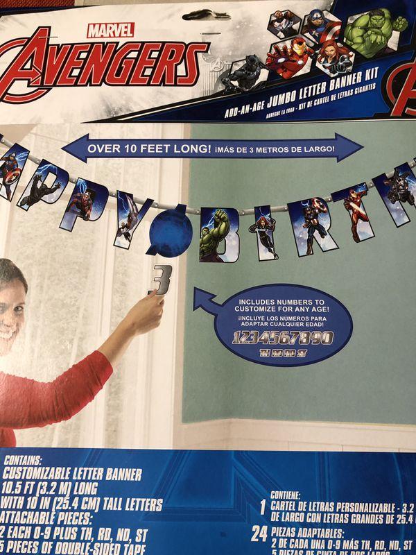 Marvel Avengers Birthday Decorations Banner Swirl Decor