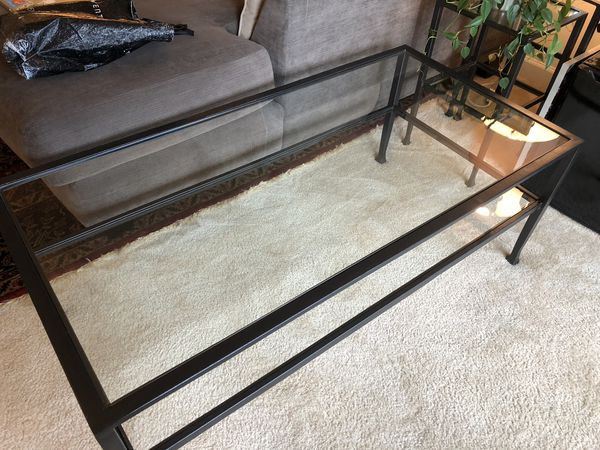 pottery barn glass coffee table for sale in arlington va offerup - Pottery Barn Glass Coffee Tables