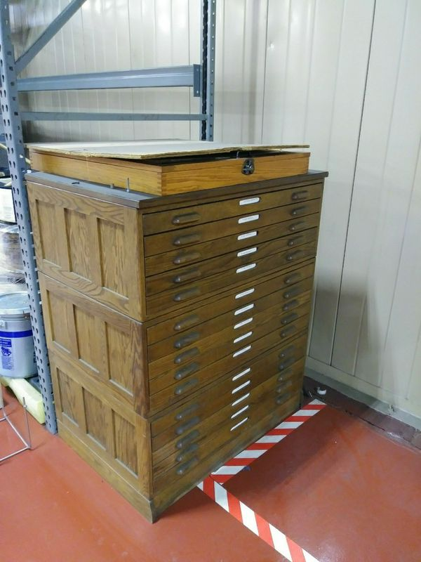 Oak vintage architecture blueprint cabinet main picture is three oak vintage architecture blueprint cabinet main picture is three stacked cabinets price is for each all three 1800 antiques in springboro malvernweather Images