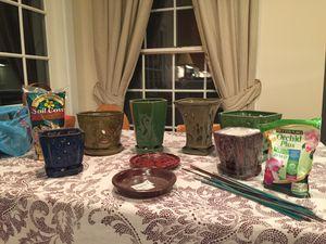Orchid pots & supplies. for Sale in Alexandria, VA