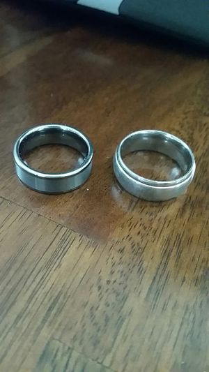 2 wedding bands for men for Sale in Silver Spring, MD