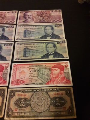 Billetes mexicanos for Sale in Austin, TX