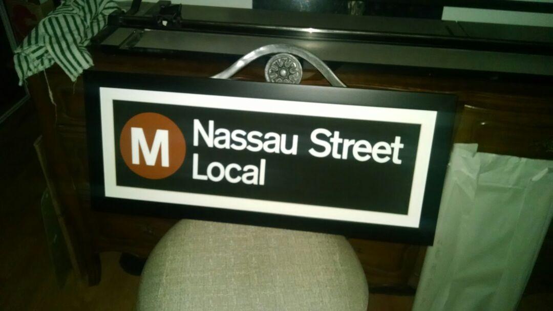 NYC SUBWAY ROLL SIGN ART