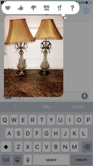 Two lamps with gold shades for Sale in Atlanta, GA