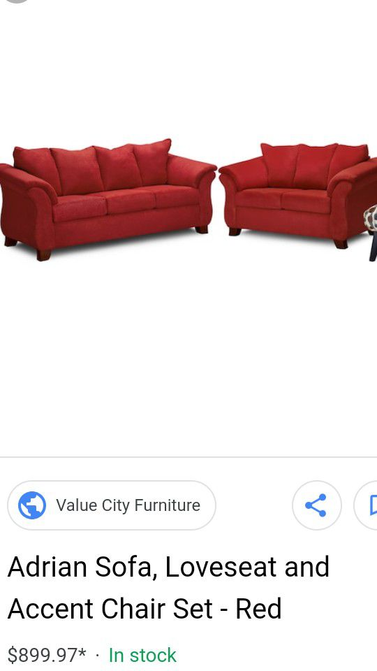 Like New Red Sofa And Loveseat For Sale In Stone Mountain Ga Offerup