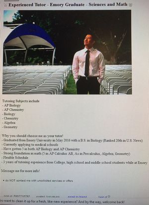 Experienced tutor for sciences, math, Chinese for Sale in Los Angeles, CA