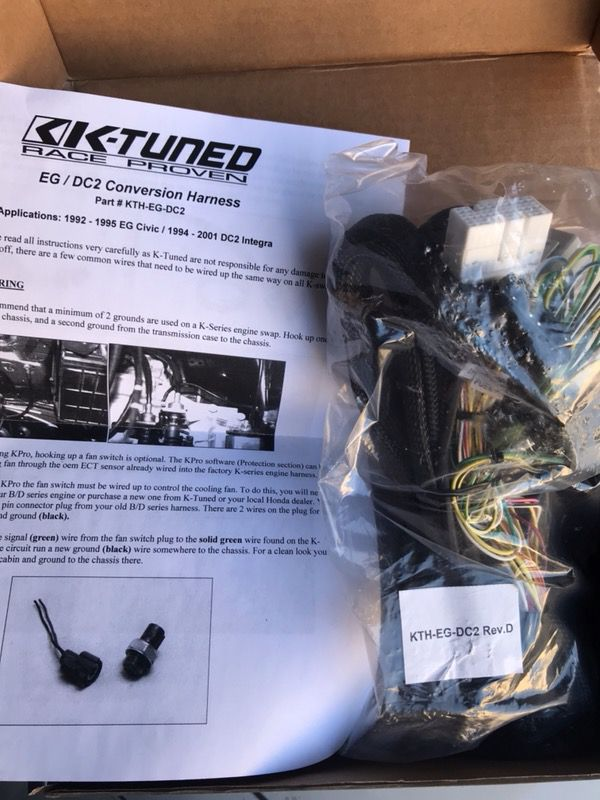 K Tuned Wiring Harness Conversion on
