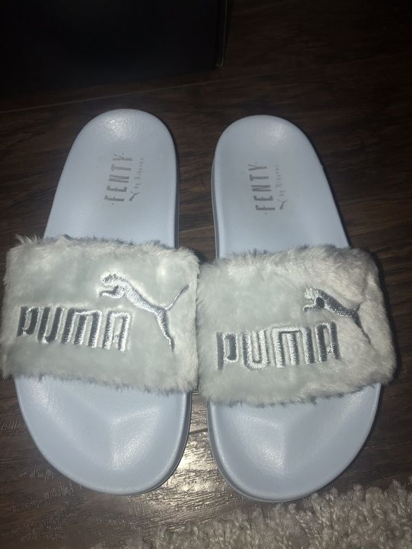 Light blue fenty by Rihanna puma fur slides with box and dust bag for Sale  in Grand Prairie, TX - OfferUp