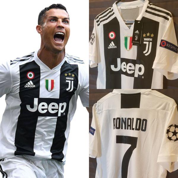 Men s New 2018 19 Club Juventus Home Jersey  7 Ronaldo (Player Version).  McAllen ... e4058bbb4