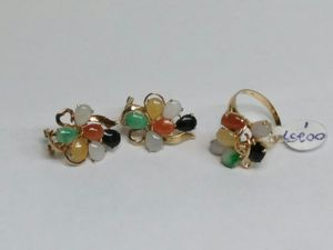 $299 - 8.2 g 14k Gold Earrings and Ring w stones design set Sz.4 1/2 for Sale in Spring Valley, CA