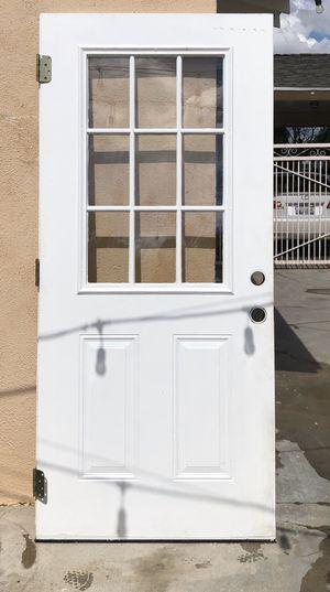 Photo Exterior White Metal Door with window