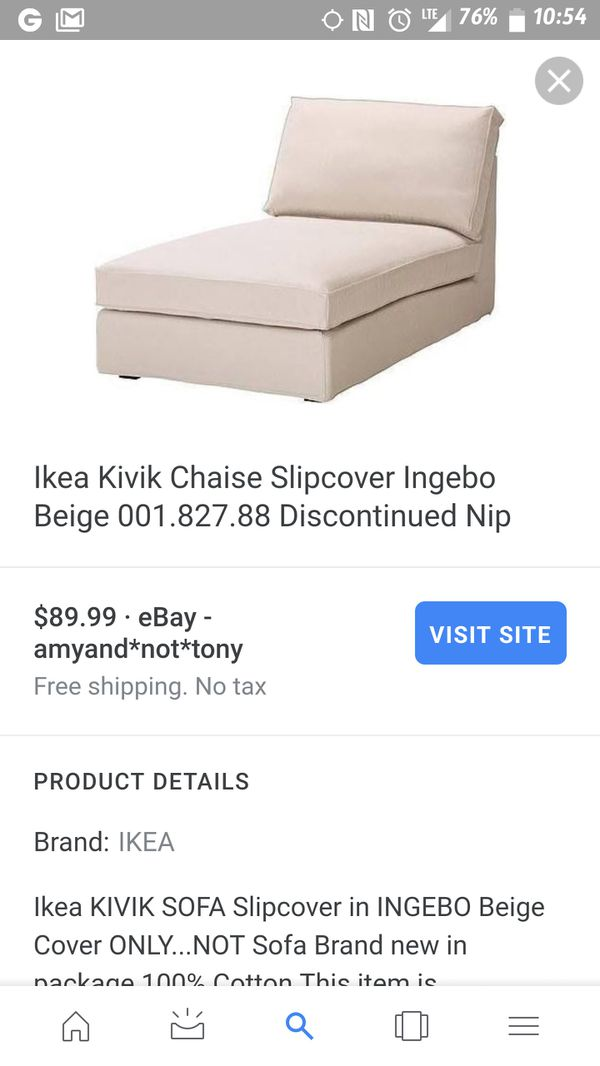 Ikea Chaise With Two Covers