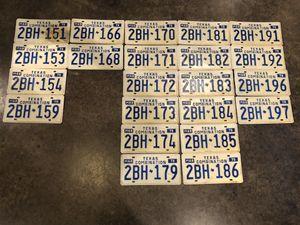 Photo 22 Texas Combination License Plates 1979