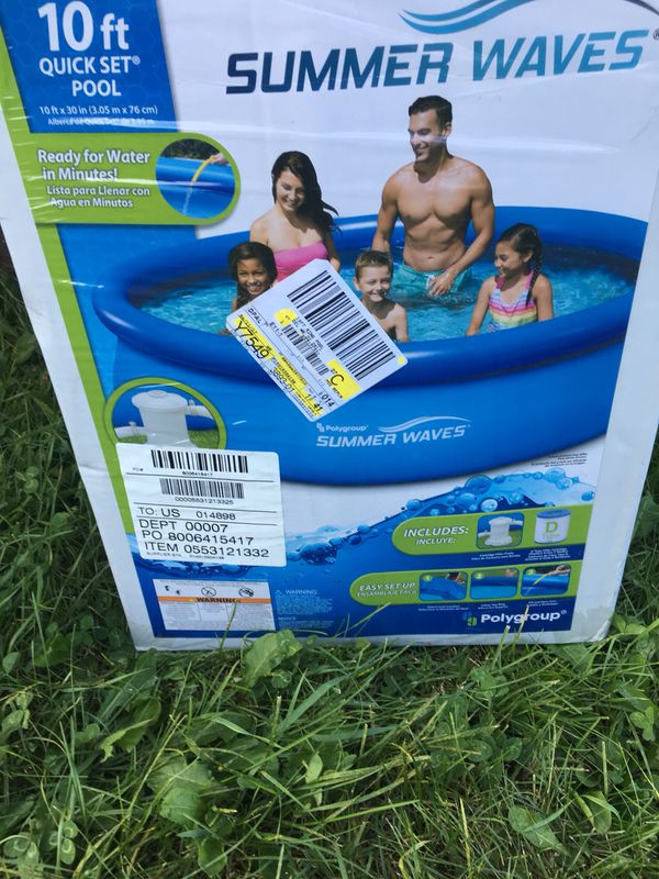 10 FT Quick Set Ring Pool for Sale in Gurnee, IL - OfferUp