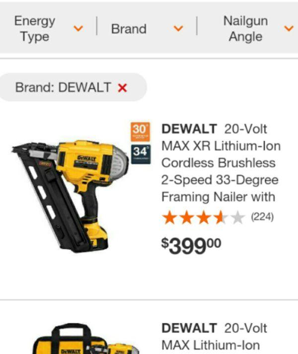DeWalt 20v Brushless 2-speed Framing Nailer Combo (Tools & Machinery ...