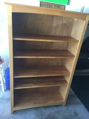 Solid wood bookshelf for Sale in Redlands, CA
