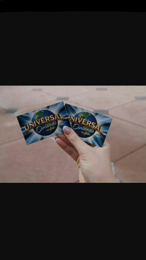 2 park to park tickets for universal studios 250.00 total including parking pass for Sale in Orlando, FL