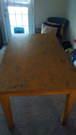 Arts and Craft Table Distressed Yellow for Sale in Apex, NC