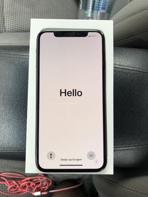 iPhone X Silver 64GB $600 Verzion & Nothing wrong with it for Sale in Bowie, MD