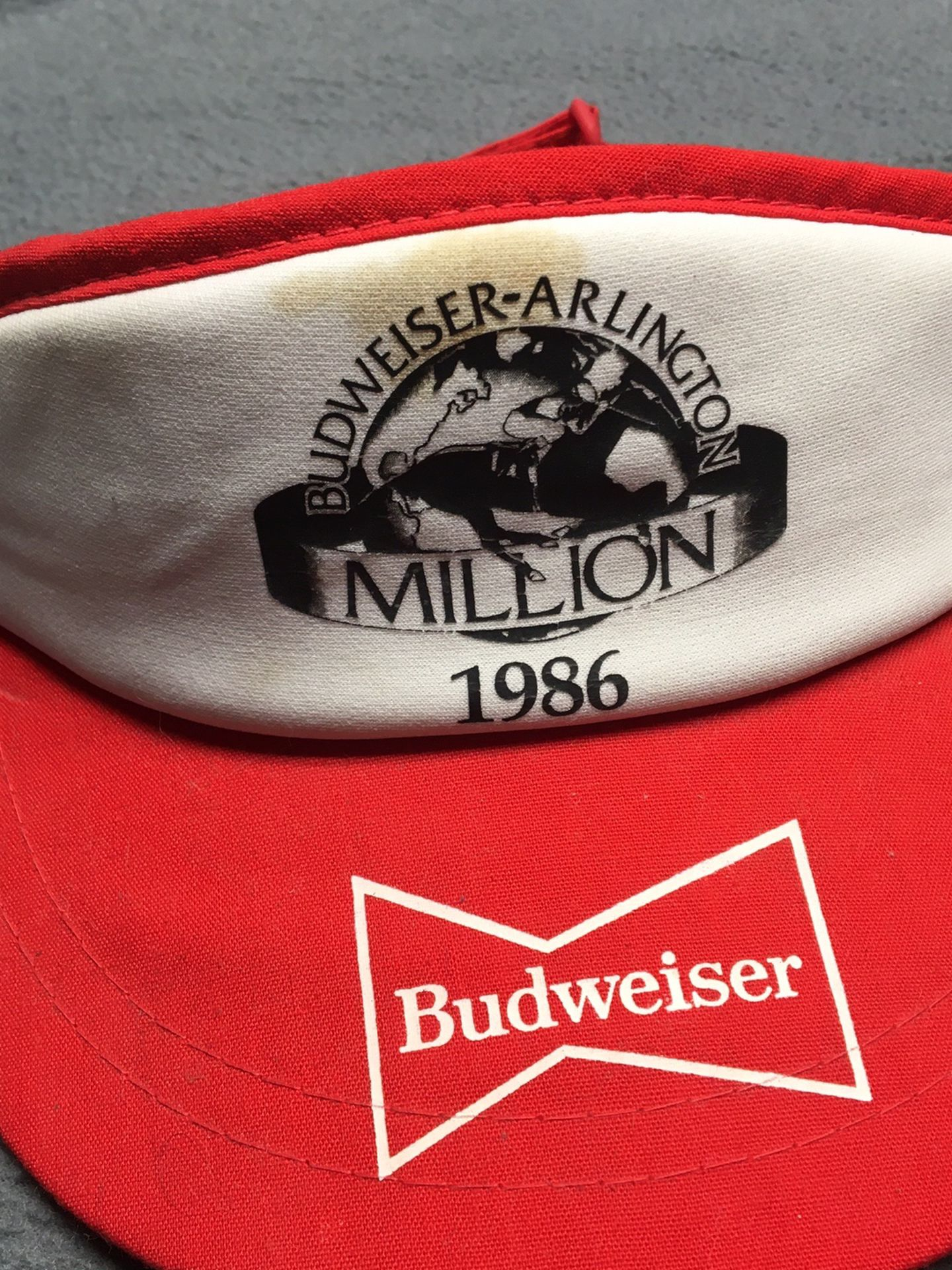 Vintage Budweiser Visor Hat