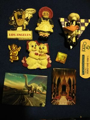 9 refrigerator magnets all for 3.50 for Sale in Bakersfield, CA